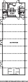 Cafeteria / Auditorium Modular Building Floor Plan