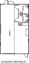 Child Care / Headstart Modular Building Floor Plan